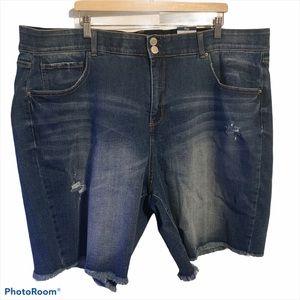 Terra & Sky 26W shorts denim tummy control short
